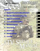 2009 Arctic Cat 90 ATV Service Manual