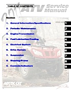 2011 Arctic Cat 350/425 ATV Service Manual