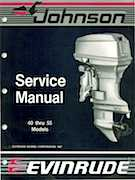 1988 40HP J40TECC Johnson outboard motor Service Manual
