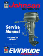 "1990 Johnson Evinrude ""ES"" 9.9 thru 30 Service Manual, P/N 507871"