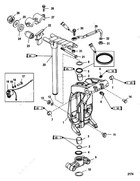 Mercury Outboard Steering Parts Diagram