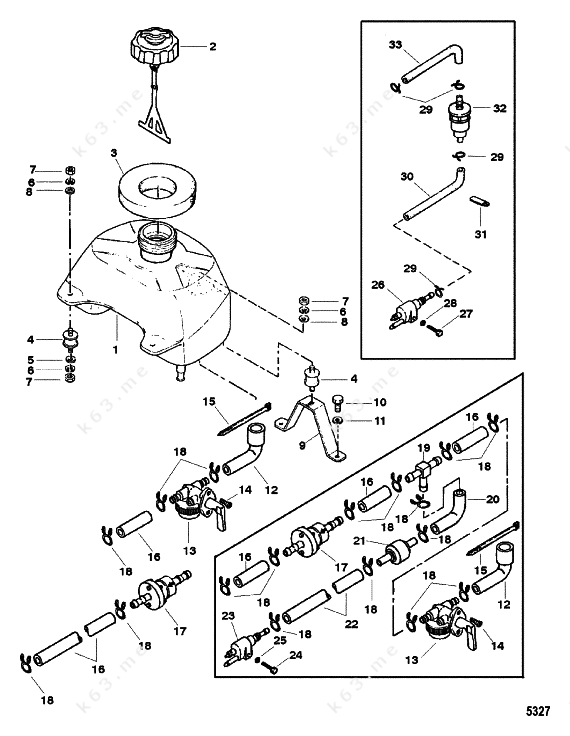 Mercurymariner 5 2 Stroke Fuel Tank
