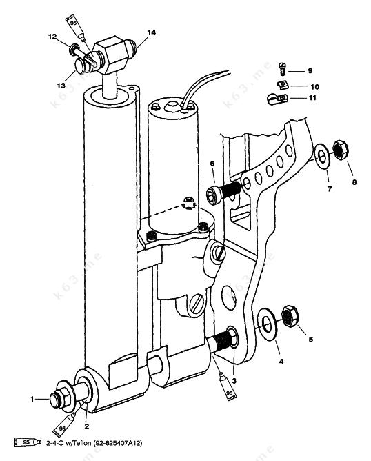 Mercurymariner 50 Bigfoot 4 Stroke Power Trim Mounting Non Bigfoot