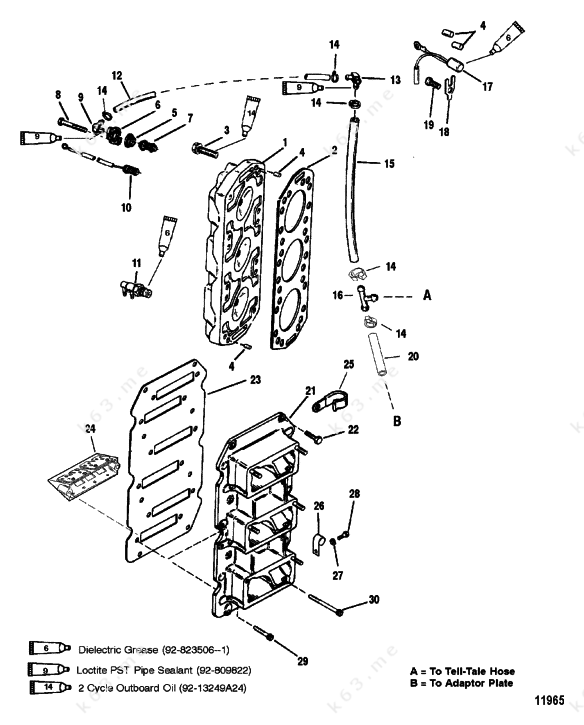 mercury 150 xr6 parts diagram